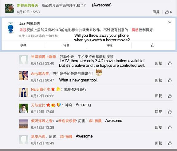 LeTV comments